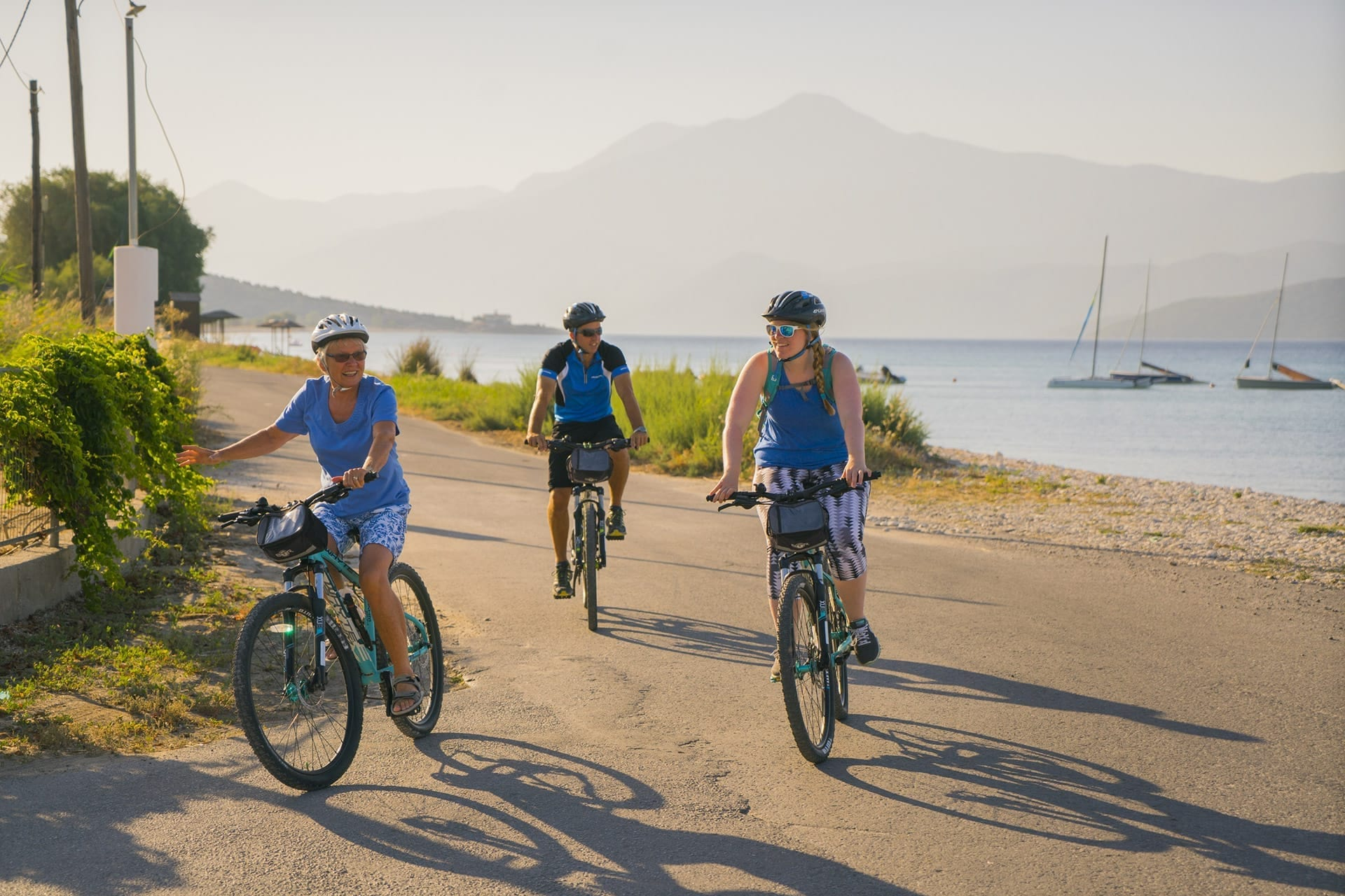 Beautiful coastal views whilst cycling around the island of Samos in Greece