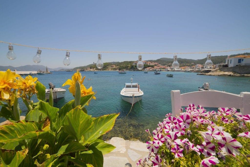 Harbourside view in Samos